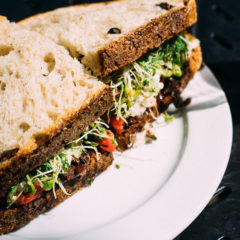 nutrient rich watercress veg sandwich